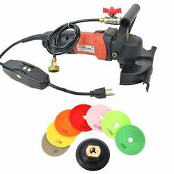 Marble And Stone 4 Granite Sander Countertop Wet Polisher Grinder W/ Diamond Pads