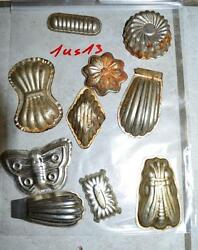 Antique German Small Tin Vintage Candy Molds/ Tart Molds 1us13