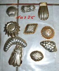 Antique German Small Tin Vintage Candy Molds/ Tart Molds 1us25