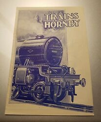 Vintage 1930and039s Trains Hornby / Meccano Train Catalogue French Rare