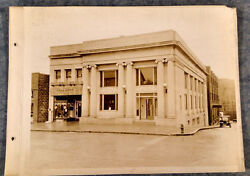 1920s Cabinet Photo Lot Claysville Pa National Bank Exterior And Interior 4 Views