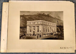 1920s Cabinet Photo 5 View Lot East Pittsburgh Pa Savings Trust Bank Inside/out