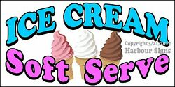 Choose Your Size Ice Cream Soft Serve Decal Food Truck Concession Restaurant