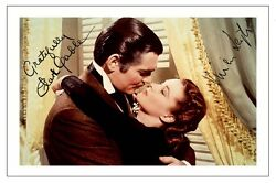 Clark Gable Vivien Leigh Gone With The Wind Autograph Signed Photo Print Poster