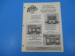 Original 1950and039s Year-a-round Tractor Cab Enclosure Ad Deere Oliver Ford M1413