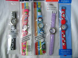 New Childrens Time Teacher Learning Watch Rubber Leather Hook And Loop Strap