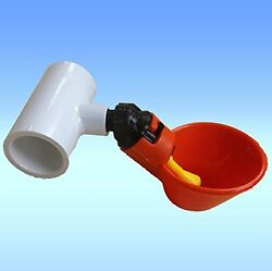 50 Pack Poultry Water Drinking Cups- Chicken Hen Automatic Drinker And Fitting Usa