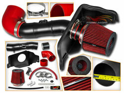 Matte Black Cold Air Induction Intake+dry Filter For Ford 05-09 Mustang Gt 4.6l