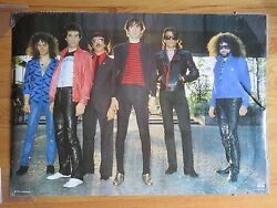 Vintage 80s The J. Geils Band Signed Poster By Jay Geils Dec 2017 Coa