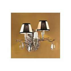 Classic Lighting Morning Dew Crystal Sconce/wallbracket, Silver Frost - 10022sf