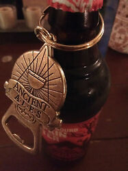 Ancient Ales Keychain Bottle Opener Dog Fish Brewery