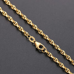 Authentic 18k Yellow Gold Necklace 2.5mm Anchor Link Chain Necklace