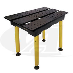 Buildpro™ 2' 0.56m X 3' Welding Table 36 Of Height With Nitride Finish