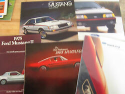 Vintage 1960and039s70s 80s90s Ford Dealer Brochures-mustang-set Of 5-some Wear