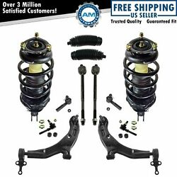 12 Piece Steering & Suspension Kit Complete Struts Control Arms Tie Rods New