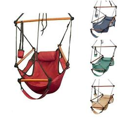 Hammock Hanging Chair Air Deluxe Outdoor Chair Solid Wood 250lb 4 Color July 4th