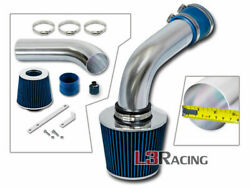 Blue Cold Air Intake Kit+dry Filter For 93-98 Vw Jetta Glx A3 Mk3 2.8l Vr6