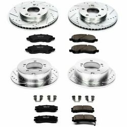 Powerstop Brake Disc and Pad Kits 4-Wheel Set Front & Rear New for K092
