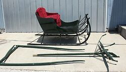 Early 1900and039s Restored Sleigh With Shafts And Team Pole By N.w. Sewell Wilton Me