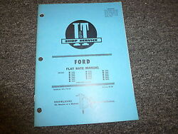 Ford 7000 7600 8000 8600 9000 9600 4100 4600 5000 5600 Tractor Flat Rate Manual