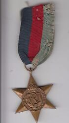 Ww2 British Military Star Medal For British Soldier J Leen Service No C287211
