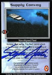 Babylon 5 Stephen Austin The Great War Supply Convoy Autographed Signed Card