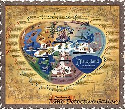 Map Of Disneyland Anaheim 1956 - Poster - Available In 5 Sizes