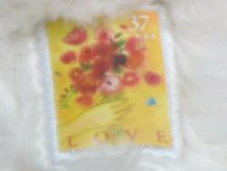Stamp Collecting Tulip Flower Bouquet .37 Usa White Teddy Bear Plush Stuffed