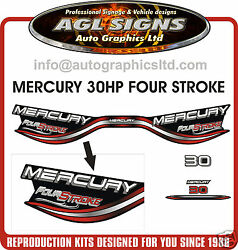 Mercury 30 Hp Fourstroke Reproduction Decal Set  Four Stroke 40 Hp