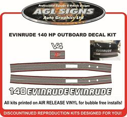 Evinrude 140 Hp V4 Reproduction Decal Set
