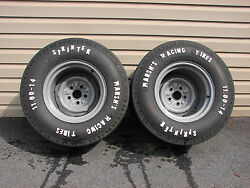 Nos Vintage Marshand039s Drag Racing Tires And Wheels 14x10.5 Gasser Ford Mopar Amc
