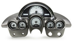 Dakota Digital 58-62 Chevy Corvette Analog Gauges Silver White VHX-58C-VET-S-W