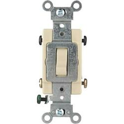 10 Pk Leviton Ivory 15a Grounded Quiet 4-way Toggle Light Switch S01-cs415-2is