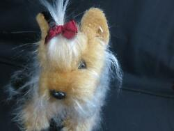 ANIMAL ALLEY GRAY BLACK BROWN YORKIE YORKSHIRE TERRIER SHAGGY REALISTIC PLUSH
