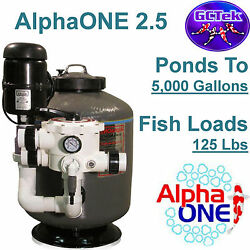 Gc Tek Alphaone 2.5 Media Filter Ao2.5 For Ponds To 5000 Gallons 125 Fish Loads