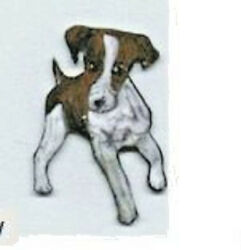 PARSON JACK RUSSELL TERRIER EARRINGS AND PIN SET