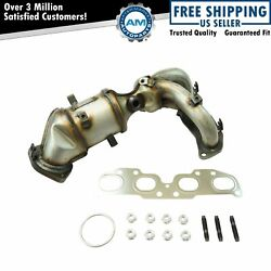 Engine Exhaust Manifold W/ Catalytic Converter Gaskets And Hardware Kit For Nissan