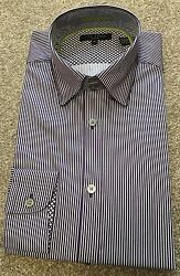 Brand New Ted Baker Purple Bengal Stripe Button Down Collar Shirt Size 3 Cost£89