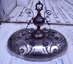 Vintage Cast Iron Mascot 120 Wood Stove Top Finial Victorian French Design