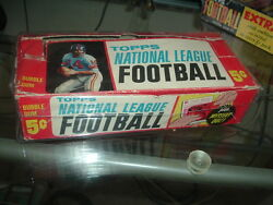 1963 Topps Football Five Cent Trading Cards Display Box Advertising Mystery