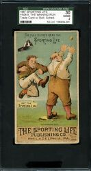 1887 H804-8 Sporting Life Trade Card Baltimore Orioles Schedule Base Ball Club