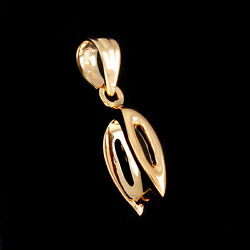 10k Solid Rose Gold Pinch Bail 20 X 4mm For Pendant With Findings