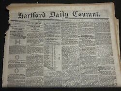 1866 Hartford Daily Courant Newspaper Lot Of 16 Different Issues - Np 2364