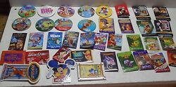 Large Lot Of Disney Advertising Pins And Buttons Video Toy Story Nemo Lion King