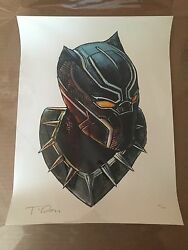 Tim Doyle Black Panther Shiny Objects Signed  Numbered 3 of 200 12 x 16 Inch