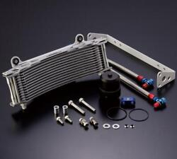 Active Earls Silver Oversize Curved Oil Cooler Kit Yamaha Vmax V Max 1200 2002