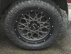 20 Vision 412 Rocker Fuel At 305/55r20 Wheel And Tire Package Chevy Dodge 8x6.5