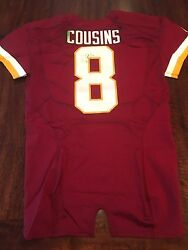Redskins 2014 Kirk Cousins 2 TD Game Worn Used Jersey on MNF MeiGray Photo Match