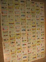 1964 Topps Nutty Awards Uncut Sheet 144 Cards