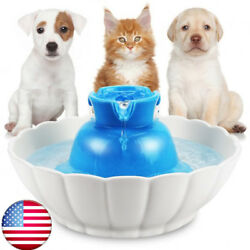 iPettie Ceramic Electric Automatic Lotus Water Drinking Fountain for Pet Dog Cat